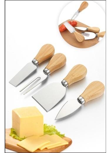 Kitchen Love 4 Lü Ahşap Saplı Mini Peynir Bıçağı Renkli